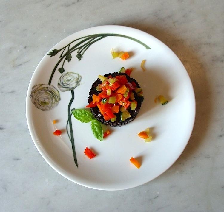 Riso nero di Lomellina con verdure colorate