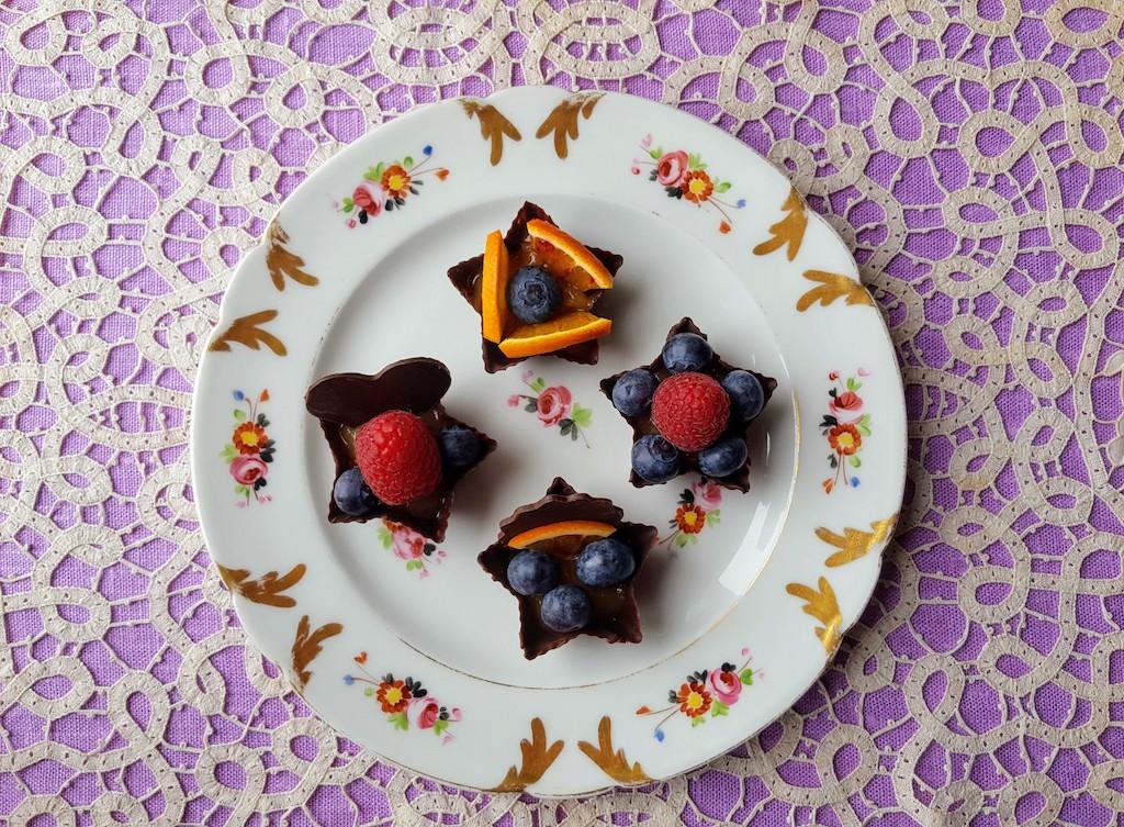 I pasticcini di cioccolato fondente e frutta di Rita